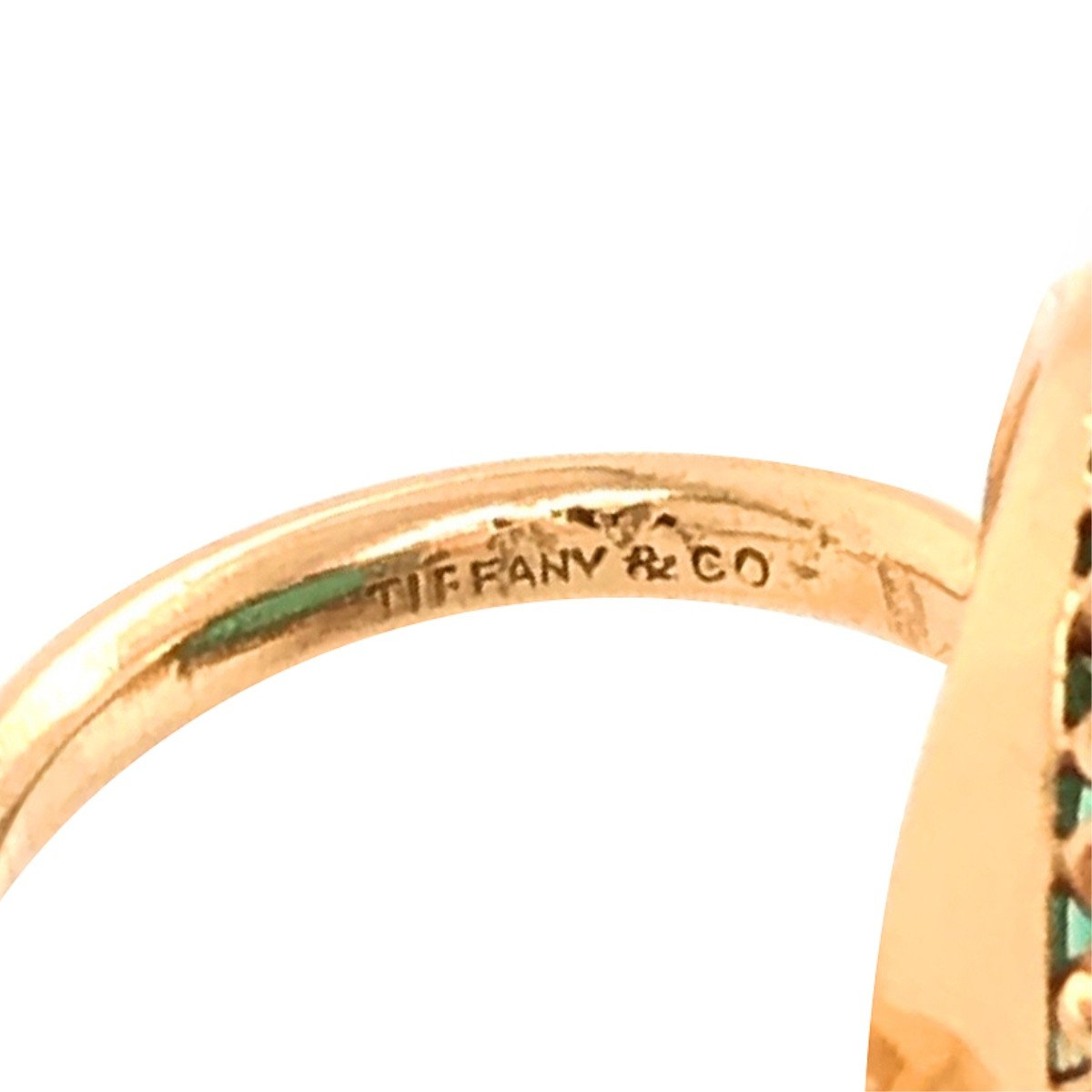 Tiffany & Co Emerald, Diamond and 18K Ring