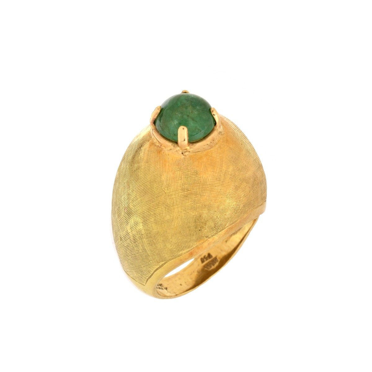 Emerald and 18K Ring