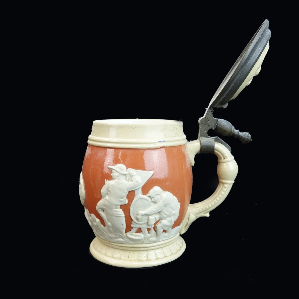 Seven (7) Pc Mettlach Beer Pitcher and Steins