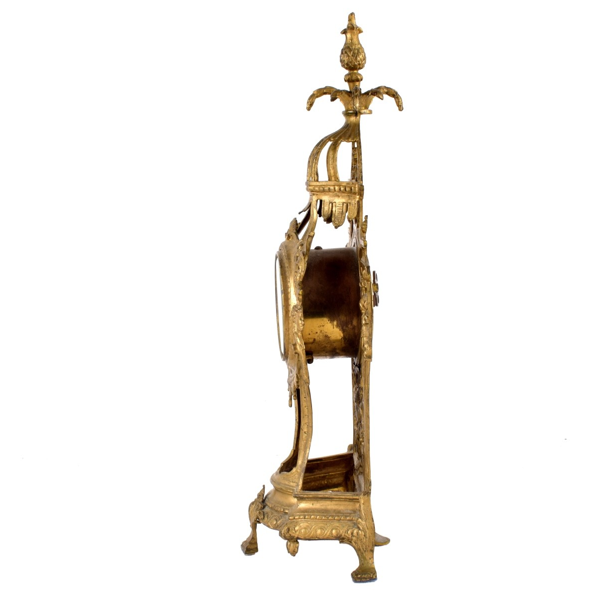 Gilt Metal Clock