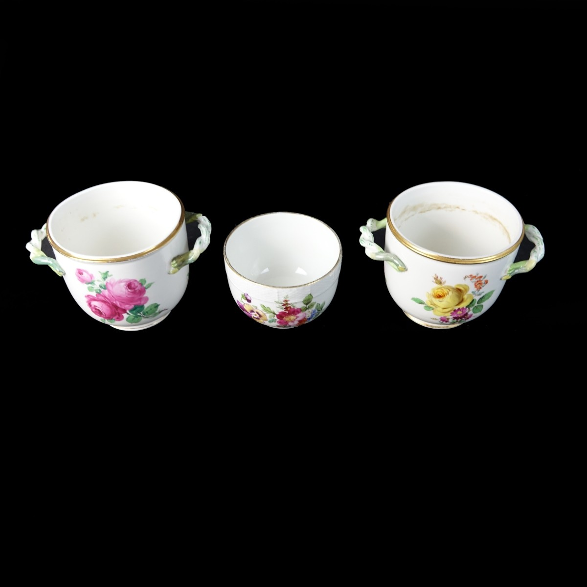 Three (3) Antique Porcelain Tableware