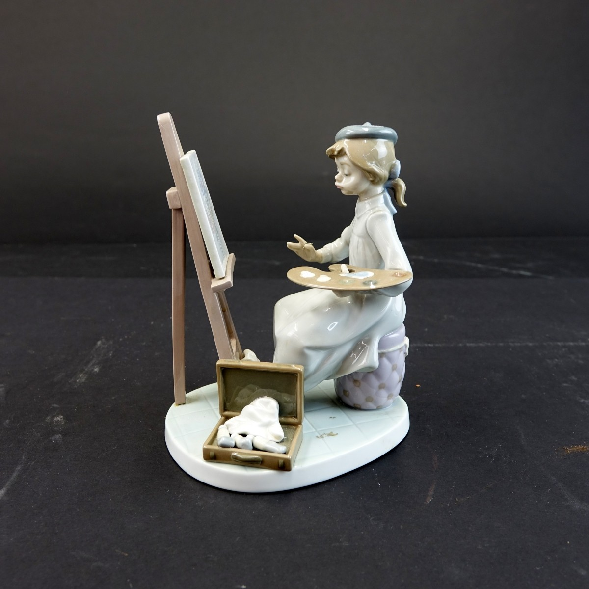 Lladro Still Life Painter Porcelain Figurine