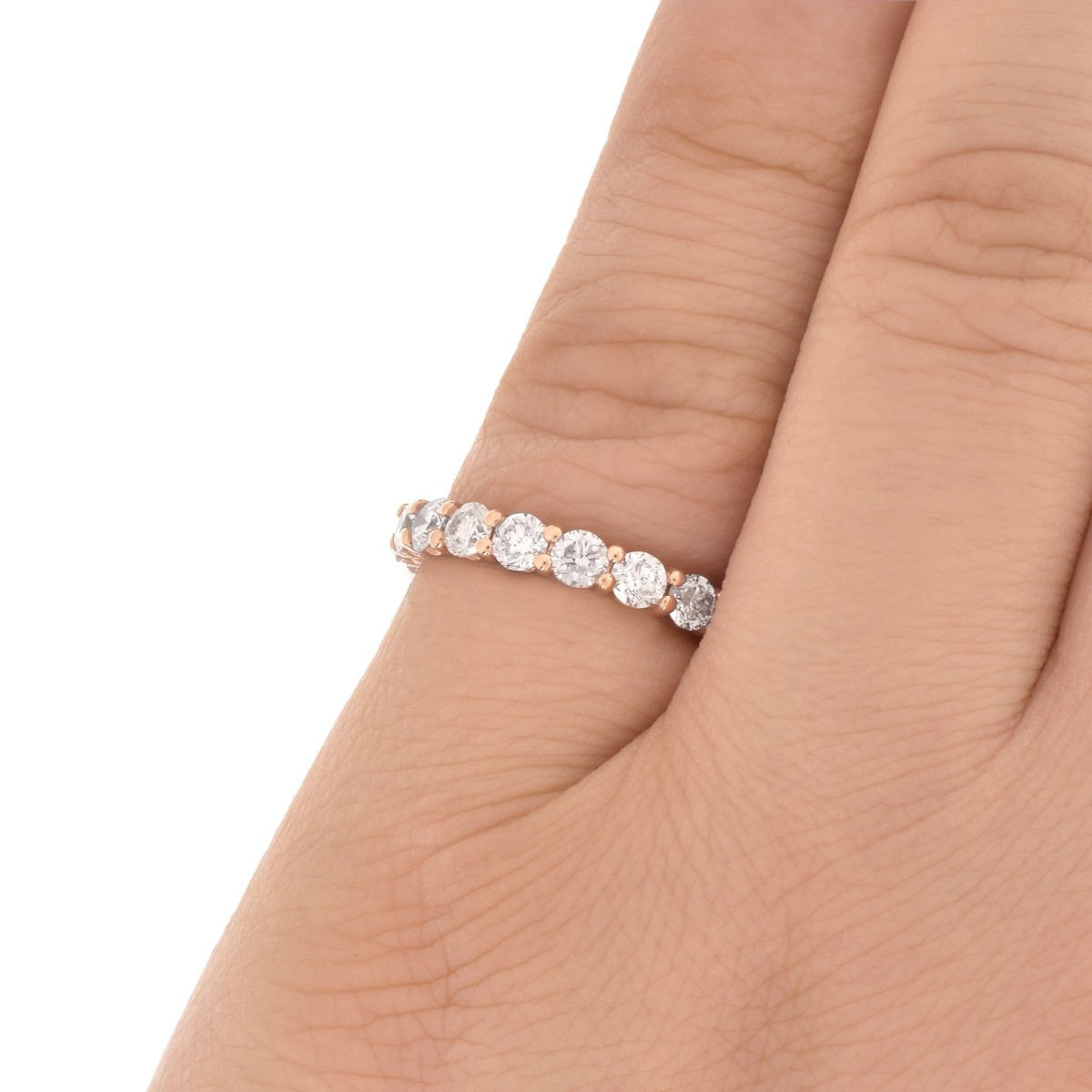 Pink Diamond Eternity Band