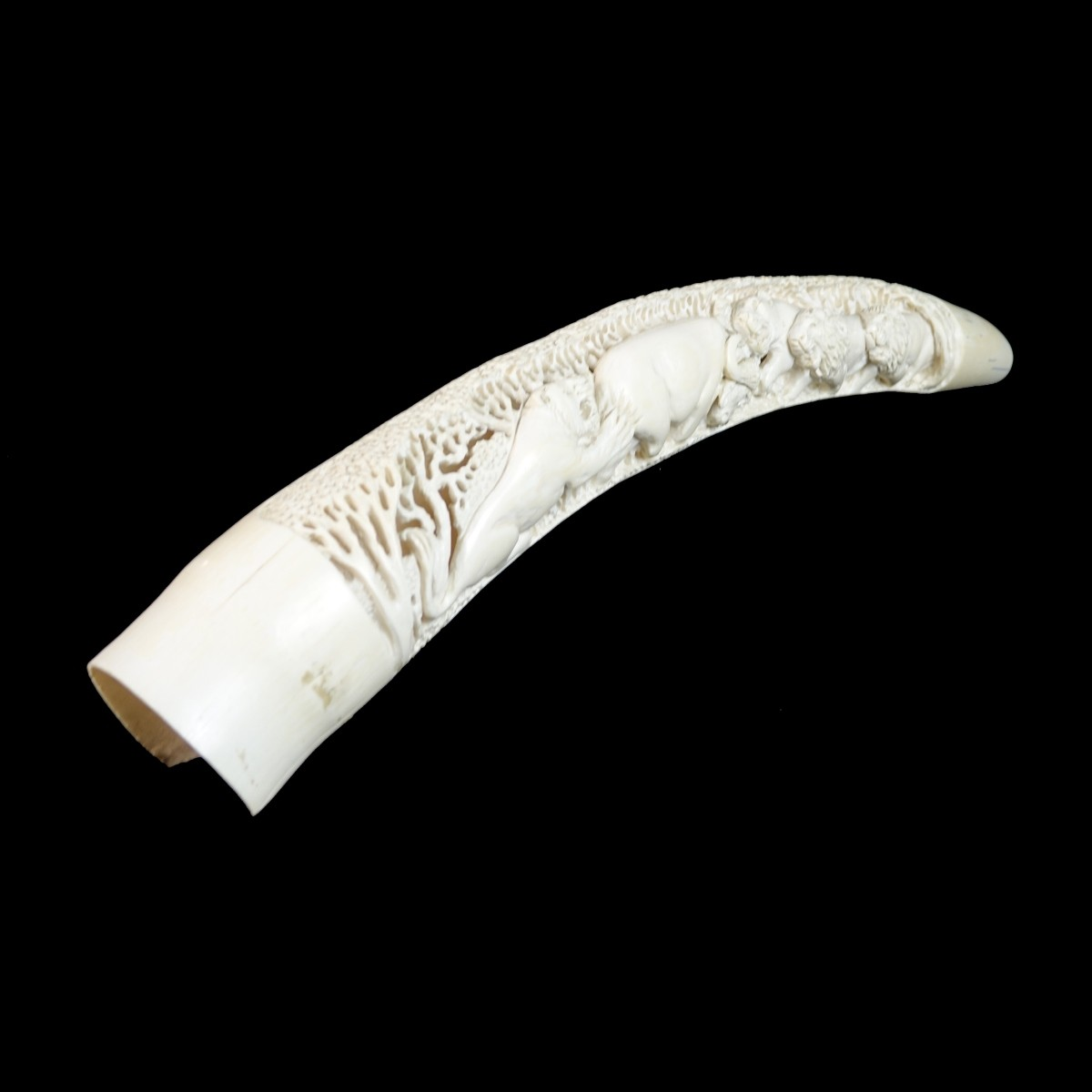 Antique African Carved Tusk