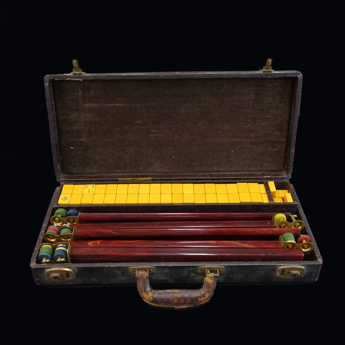 Antique Chinese Mahjong Set