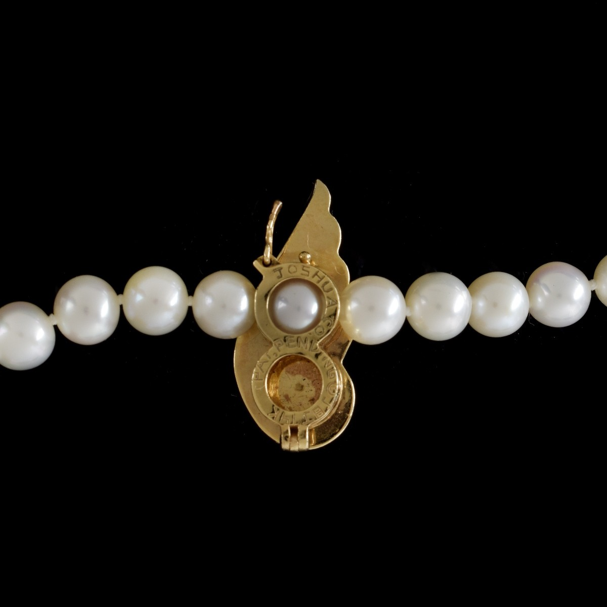 Pearl and 14K Necklace With Enhancer