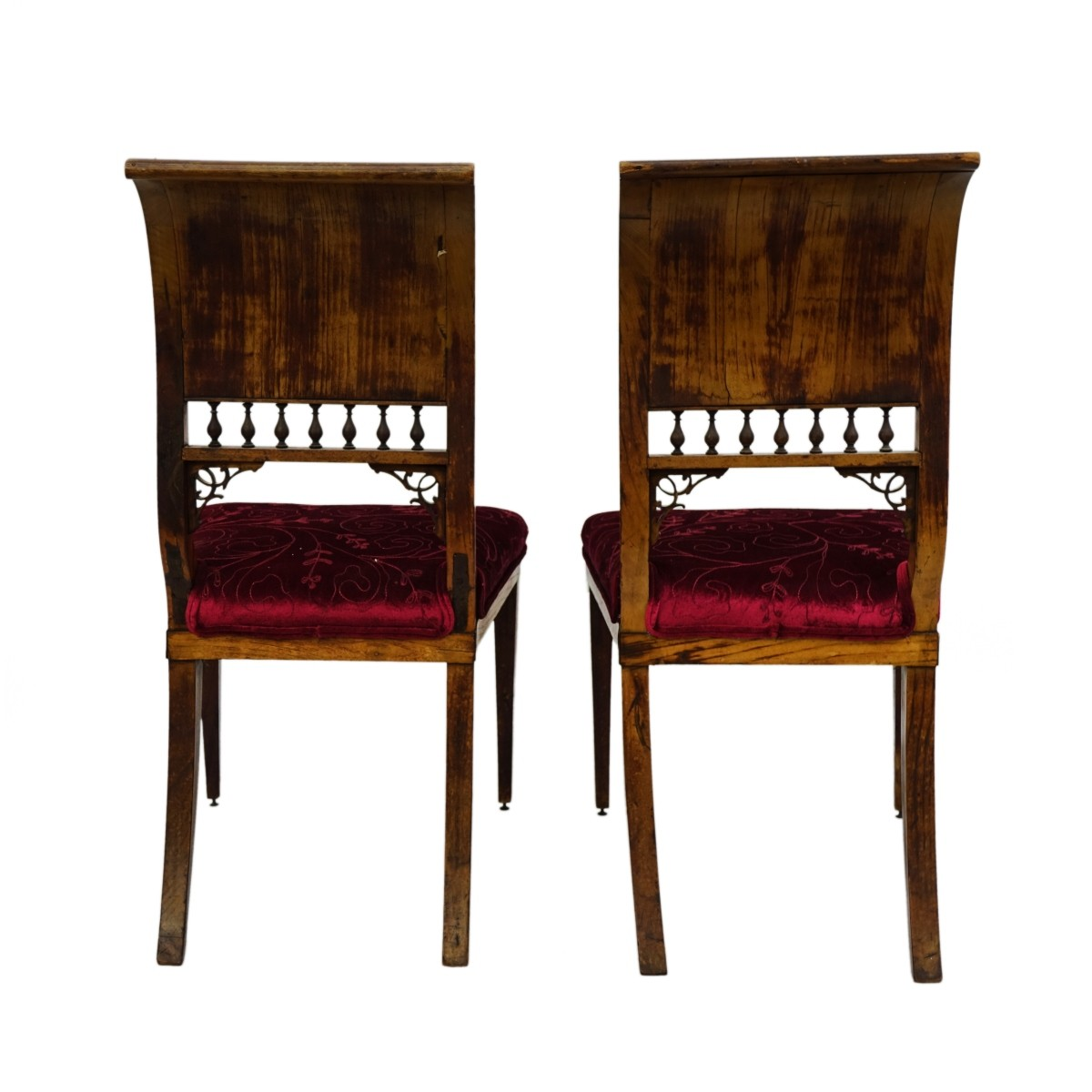 Pair of English Sheraton Side Chairs