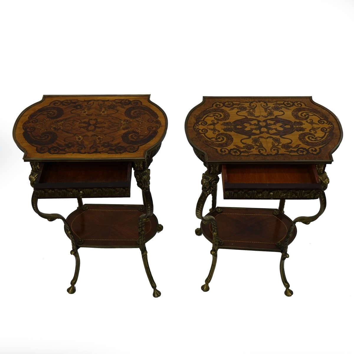 Pair of Louis XVI Style End Tables