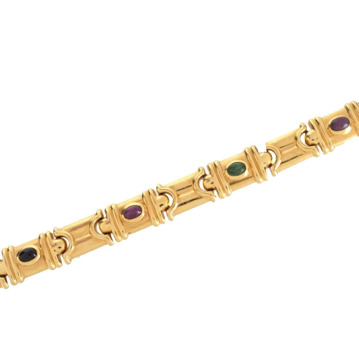 Multi Gemstone and 14K Bracelet