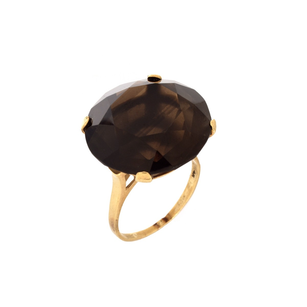 Smokey Quartz and 14K Ring