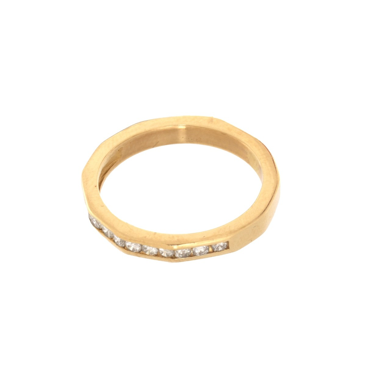 Diamond and 14K Band / Ring