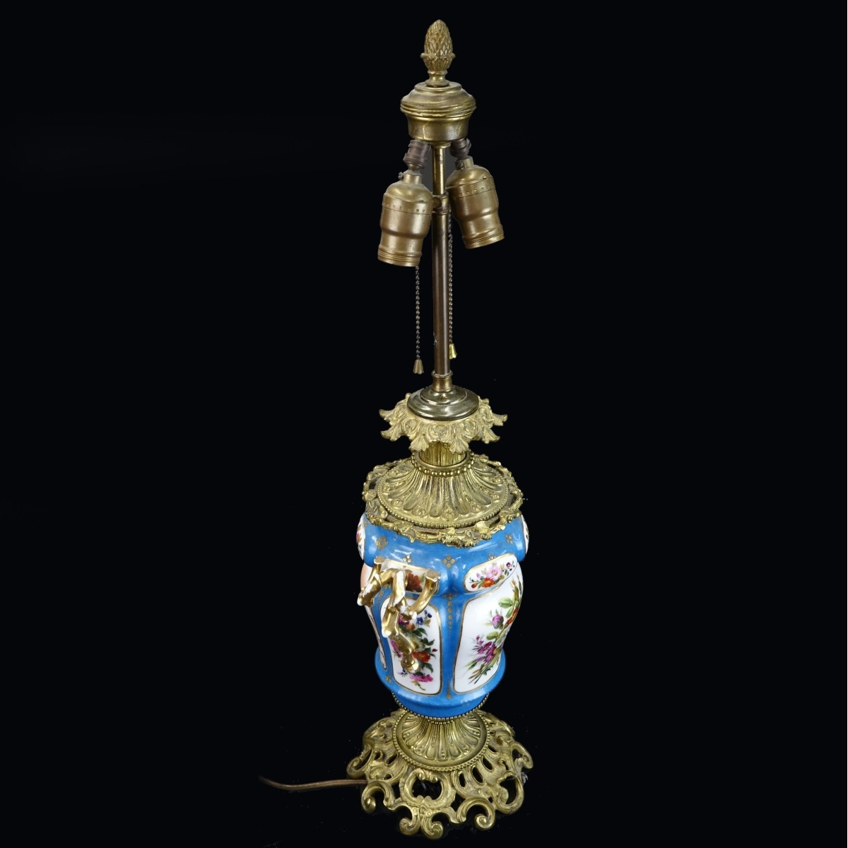 19/20th C. Sevres Style Lamp