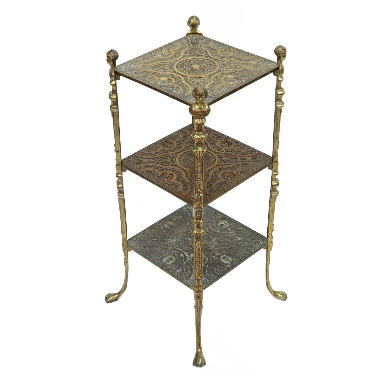 Neoclassical Style Gilt Metal Table