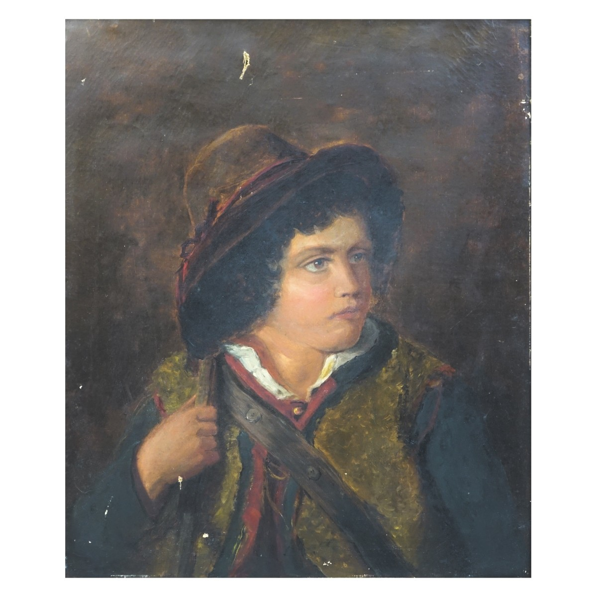 Antique English School Oil on Canvas