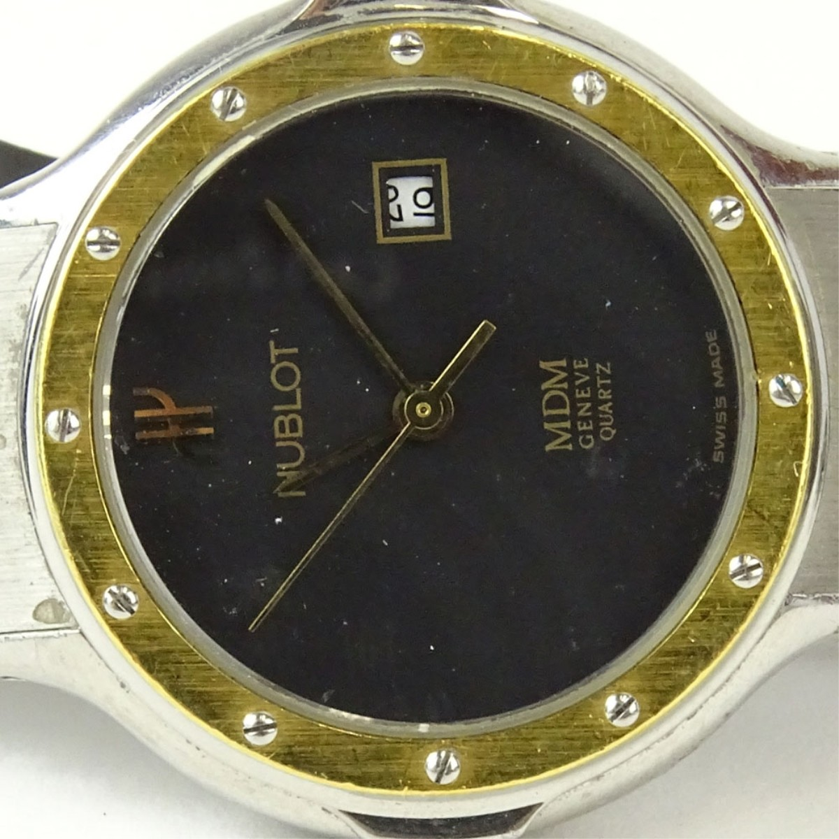Lady's Vintage Hublot MDM 18K Gold Wristwatch