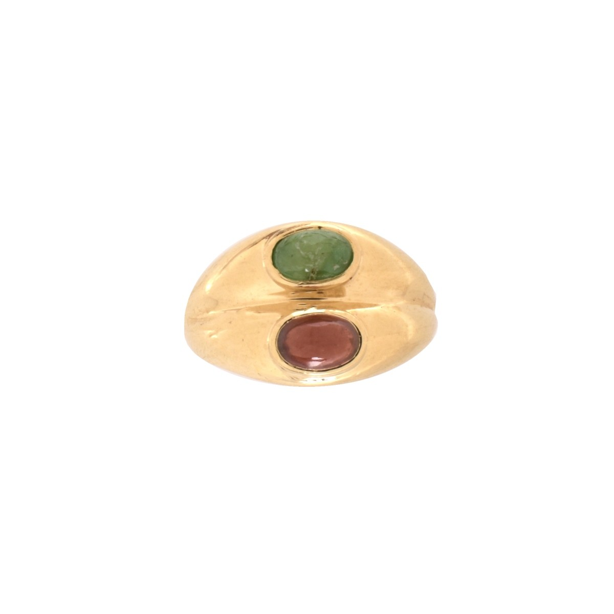 Gemstone and 14K Ring