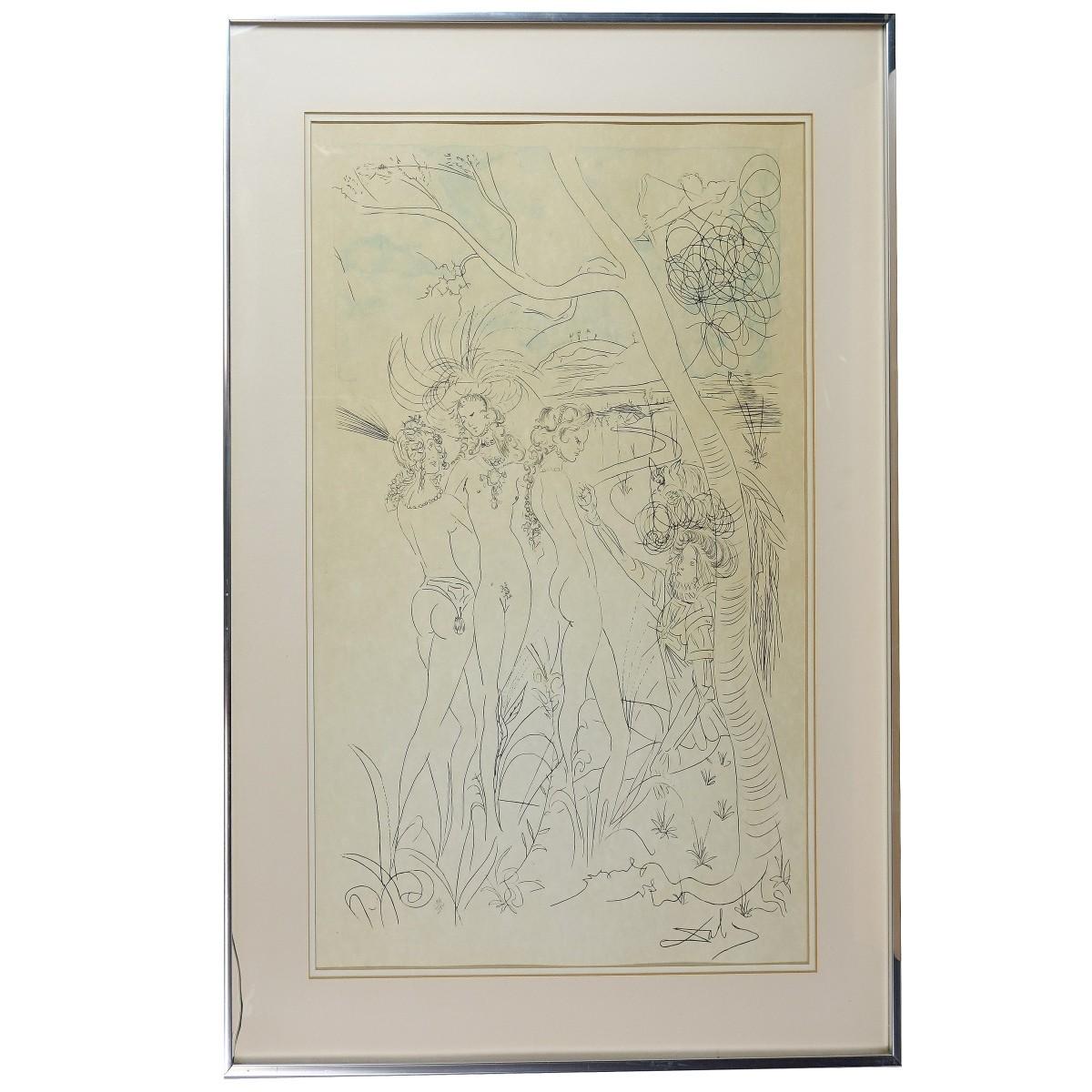 Lot 249: Salvador Dali (Spanish, 1904-1989) Dream Caused