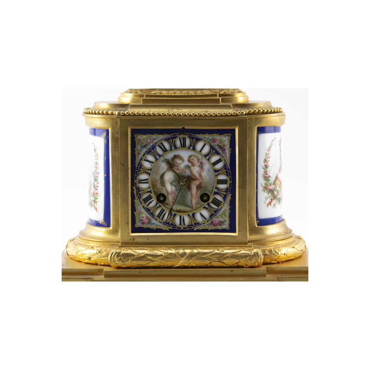 Antique French Louis XVI Style Clock Set