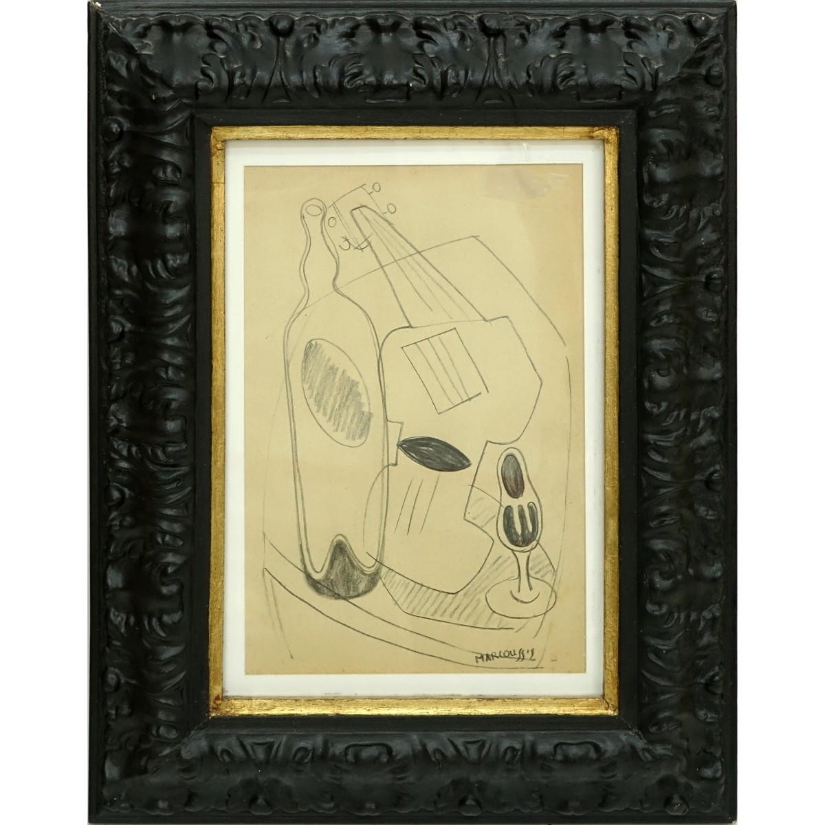Attributed to: Louis Marcoussis Pencil Drawing