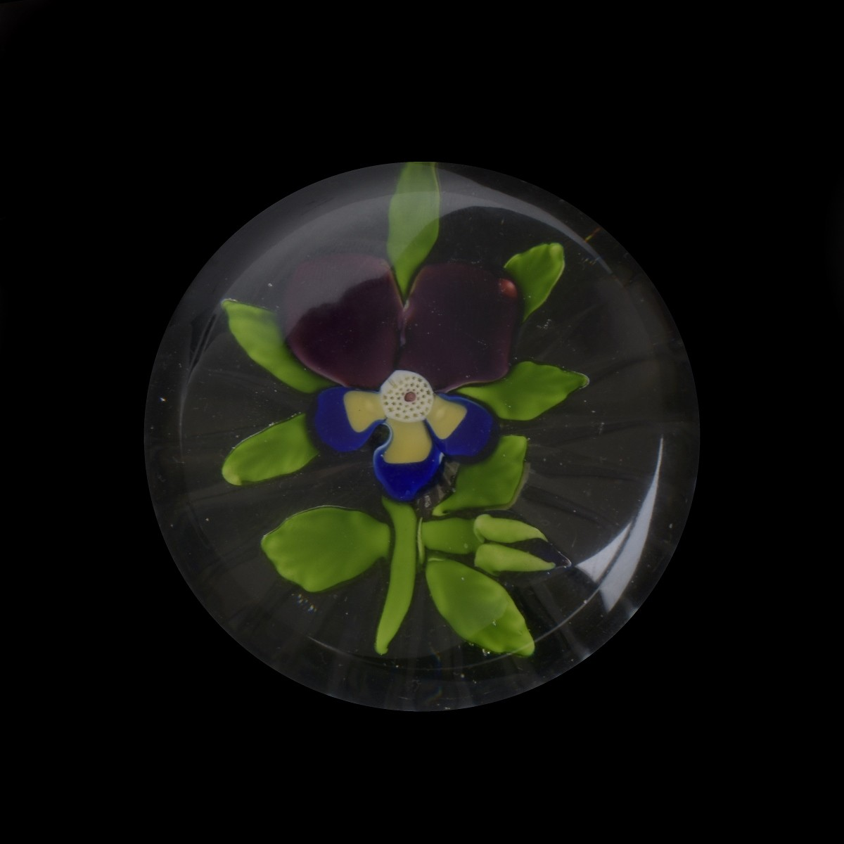 Antique Baccarat Pansy Paperweight