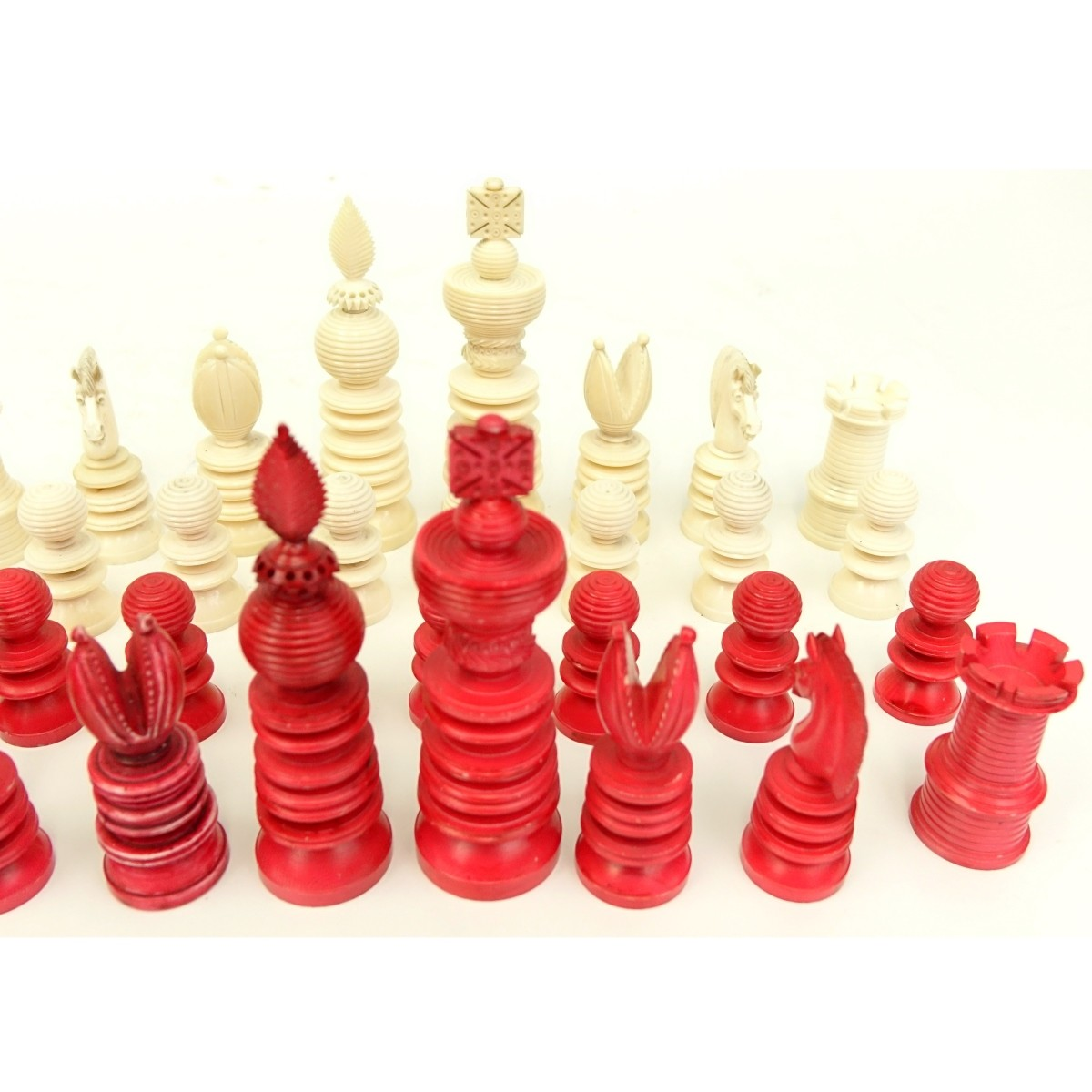 19th Century Staunton 32 Piece Chess Set