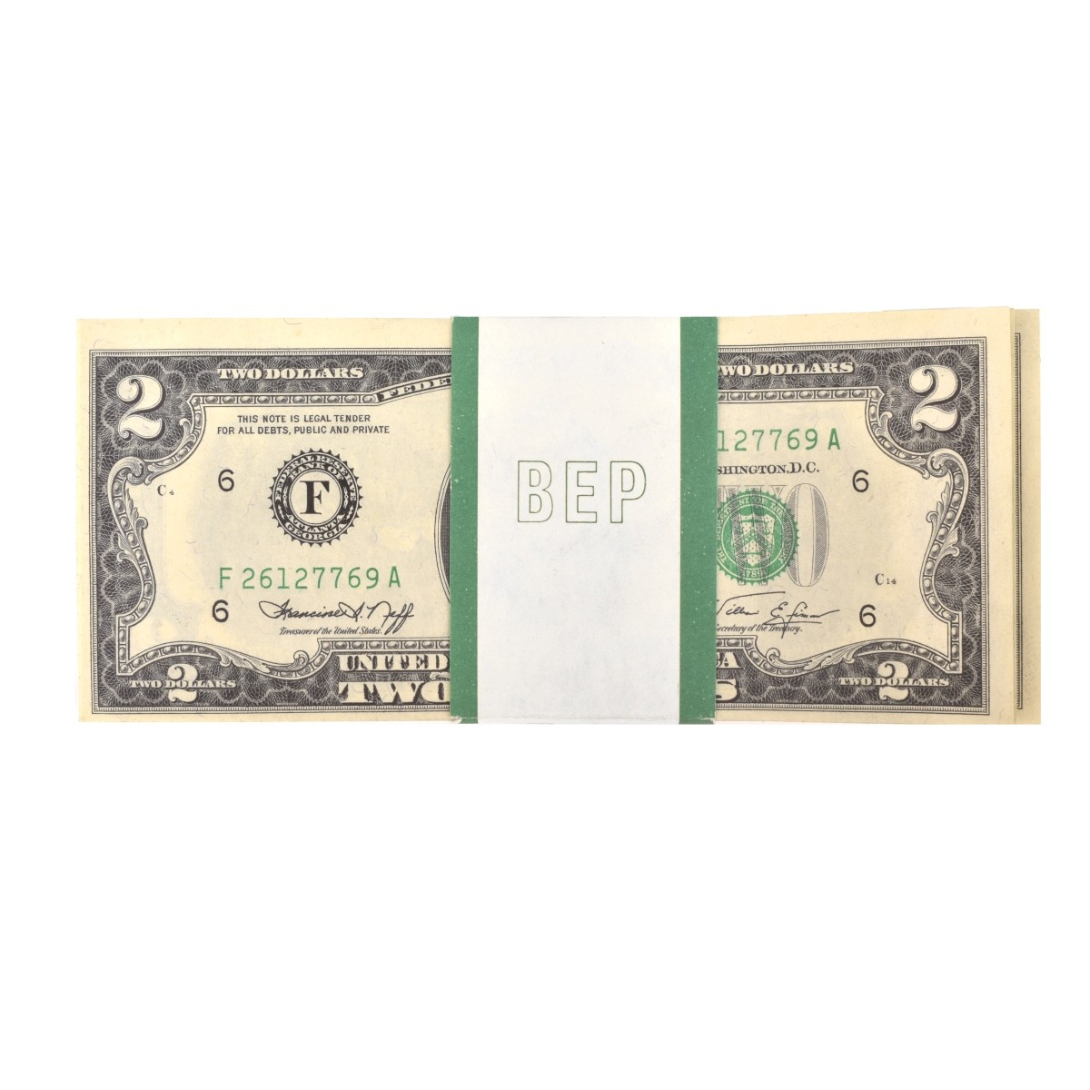 (113) US 1976 $2.00 Paper Currency