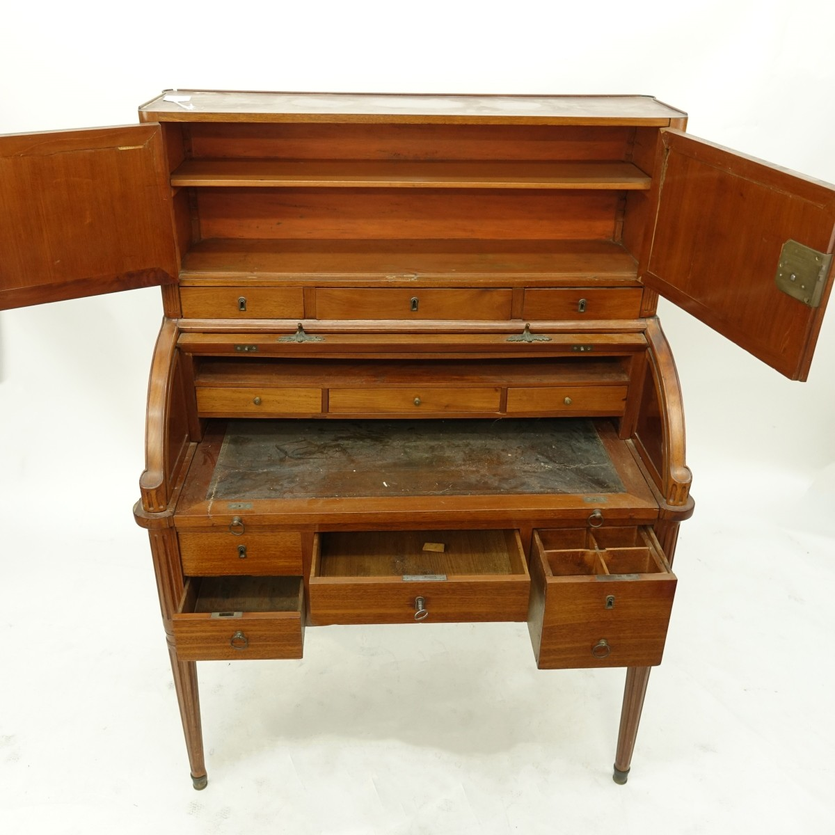 French Directoire Cylinder Top Desk