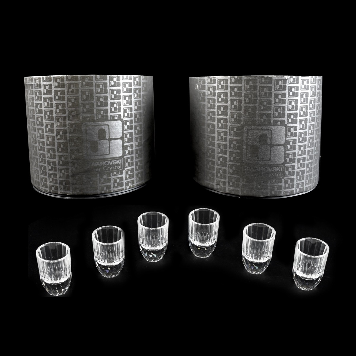 Six (6) Swarovski Crystal Shot Glasses
