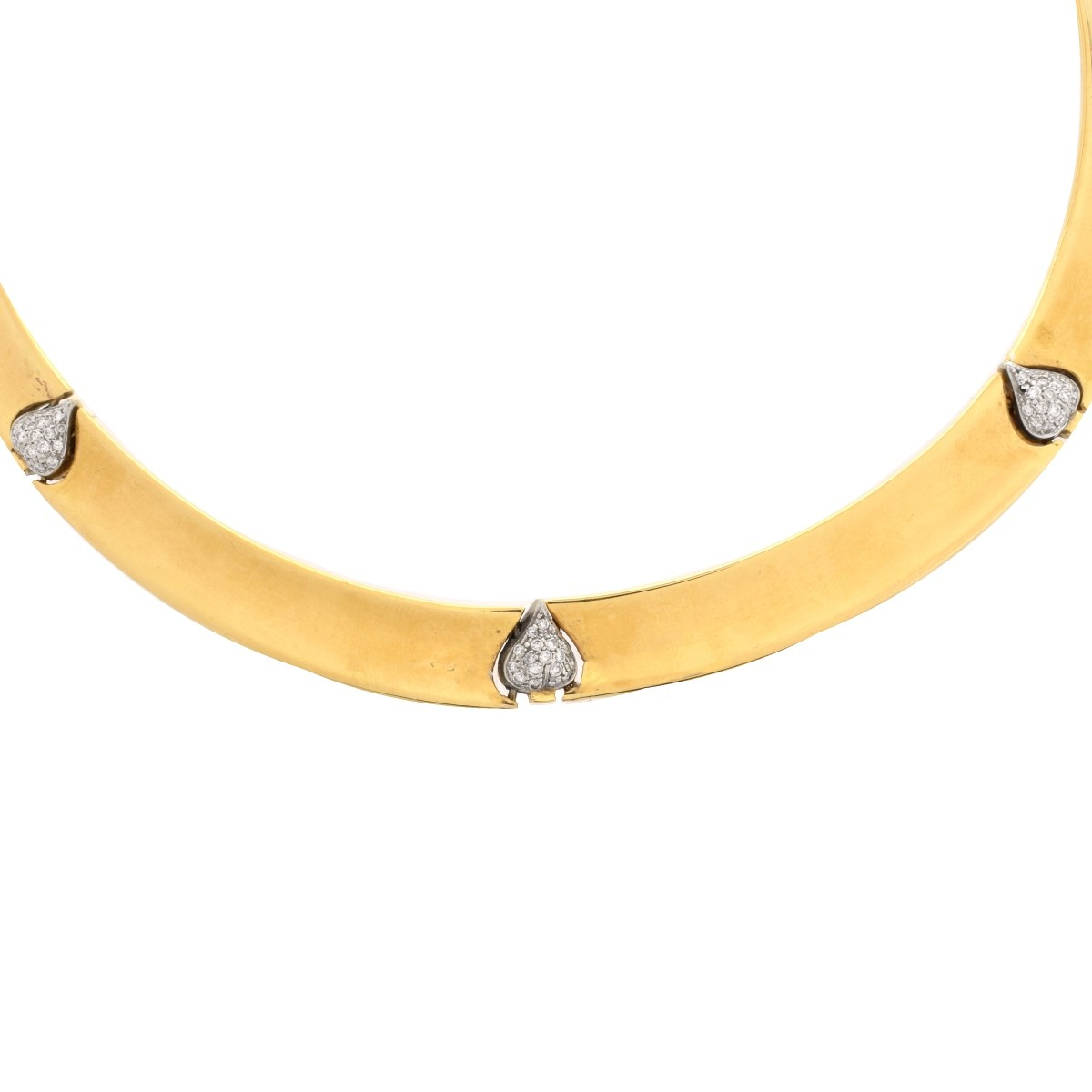 Diamond and 18K Necklace