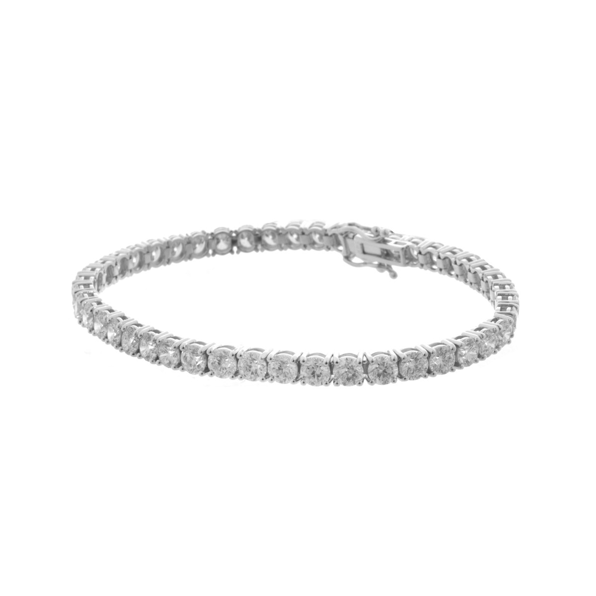 10.75 Carat Diamond Tennis Bracelet