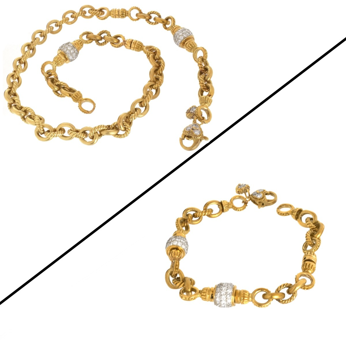 Diamond and 18K Necklace/Bracelet