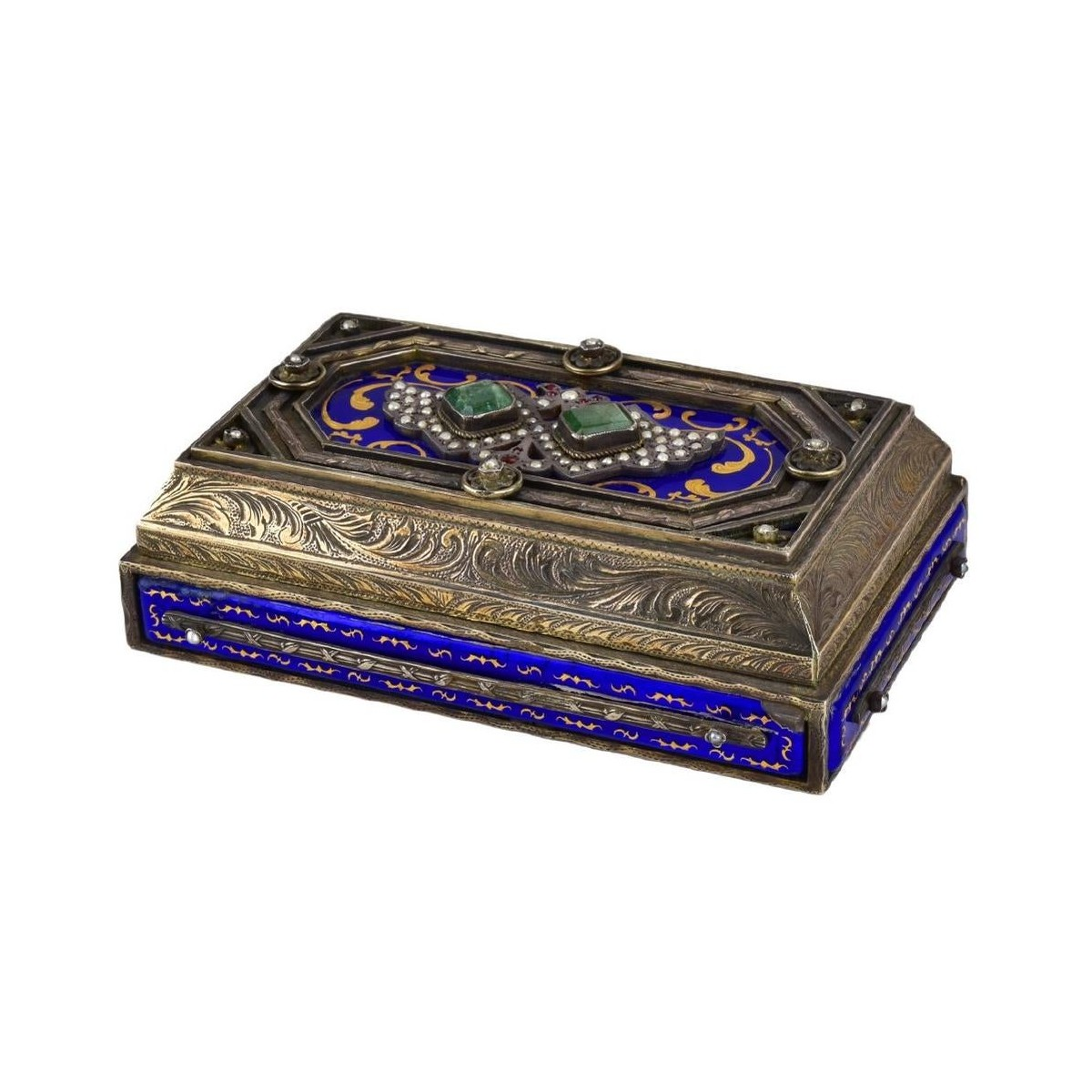 Antique Vienesse Silver and Enamel Box