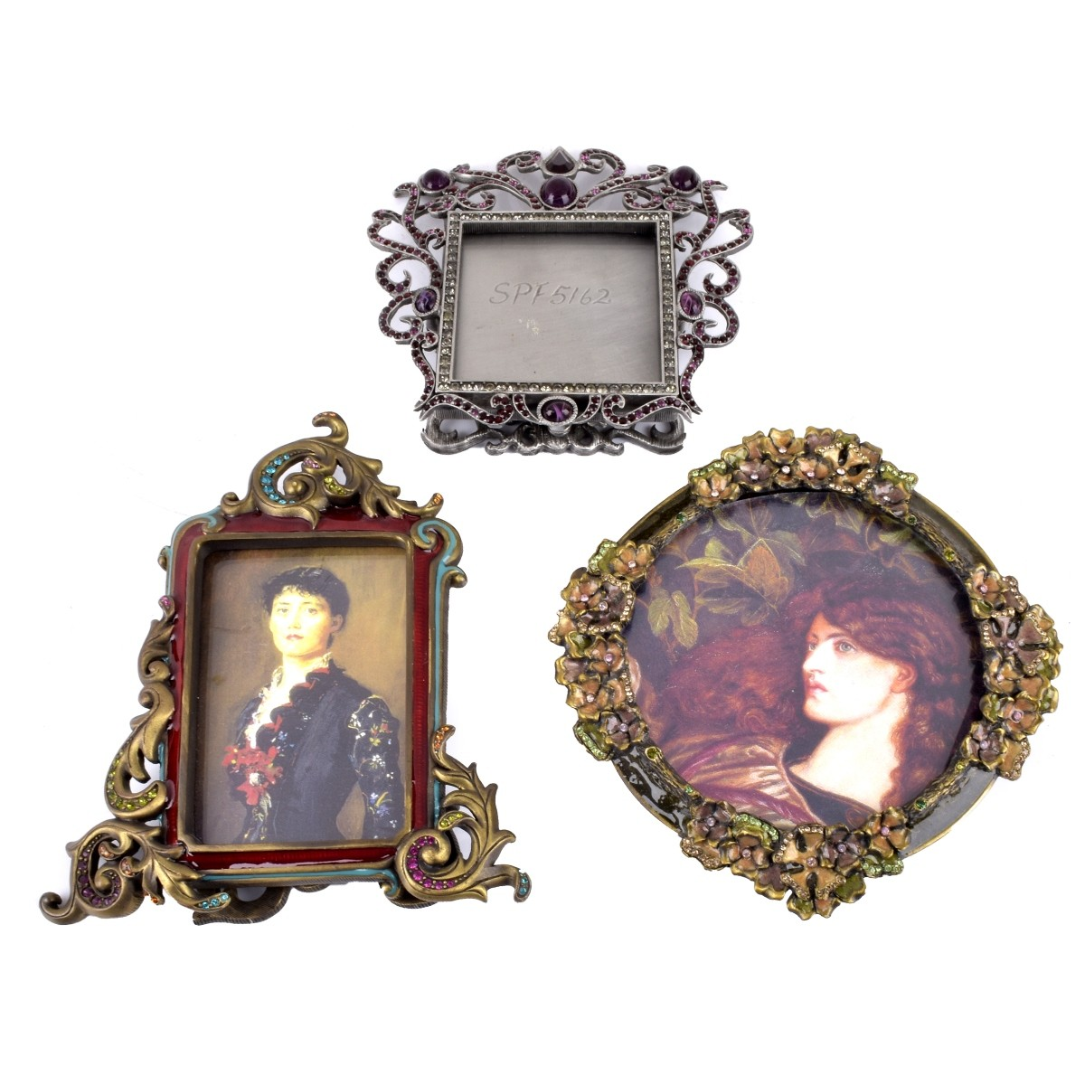 Three (3) Jay Strongwater Picture Frames