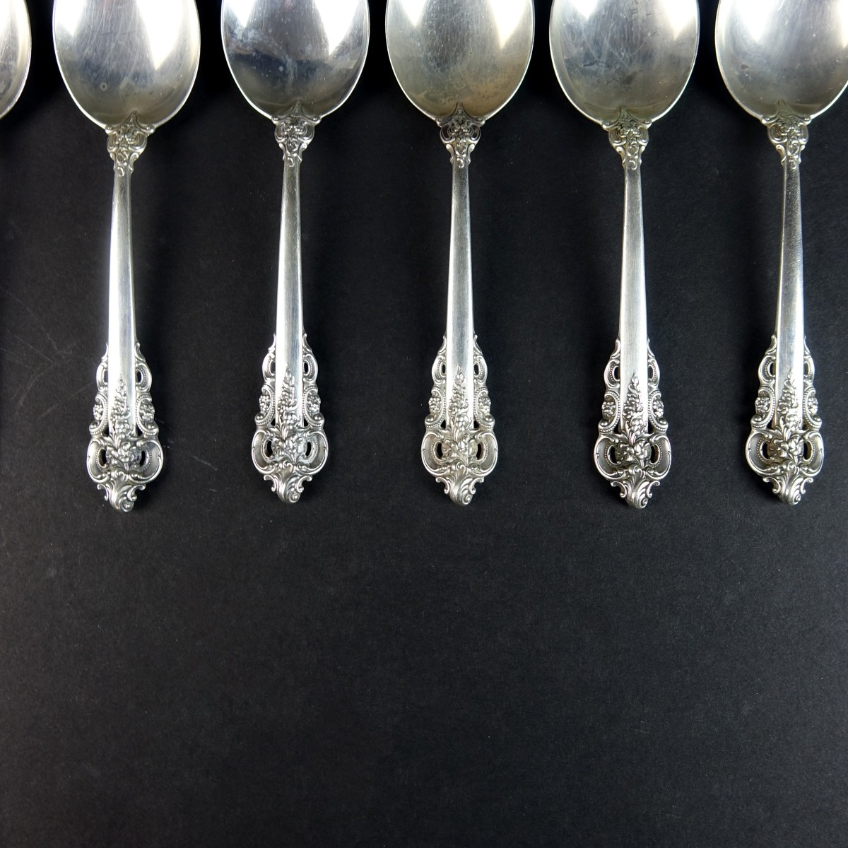 "(8) Wallace ""Grand Baroque"" Sterling Silver Spoons"