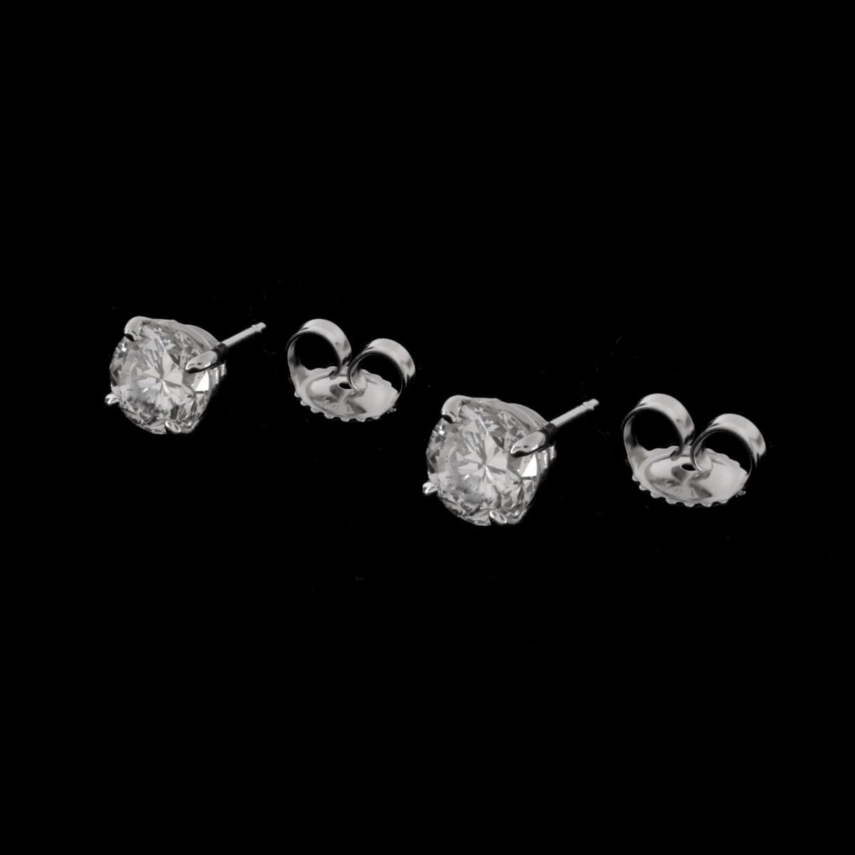 GIA Diamond and 14K Ear Studs