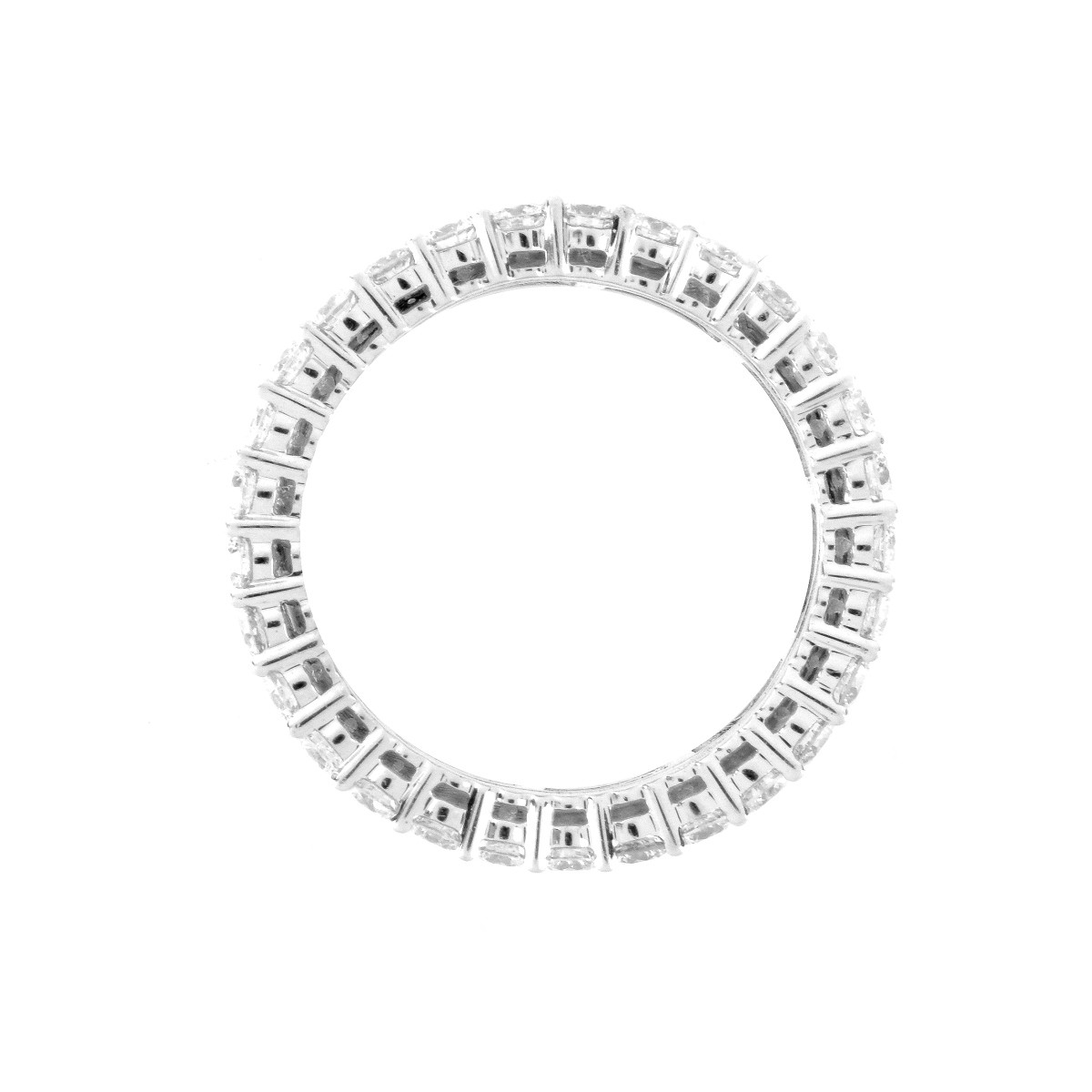 Diamond and 18K Eternity Band