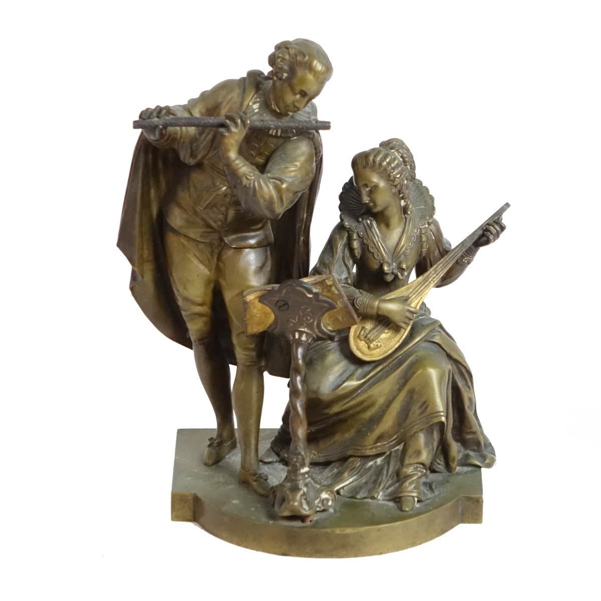 20th C. French Bronze Sculpture of Musicians