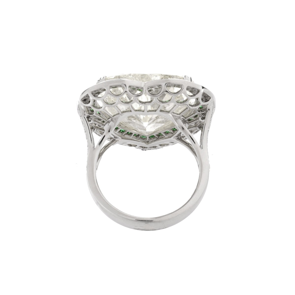 EGL 15.01 Carat Diamond and Platinum Ring