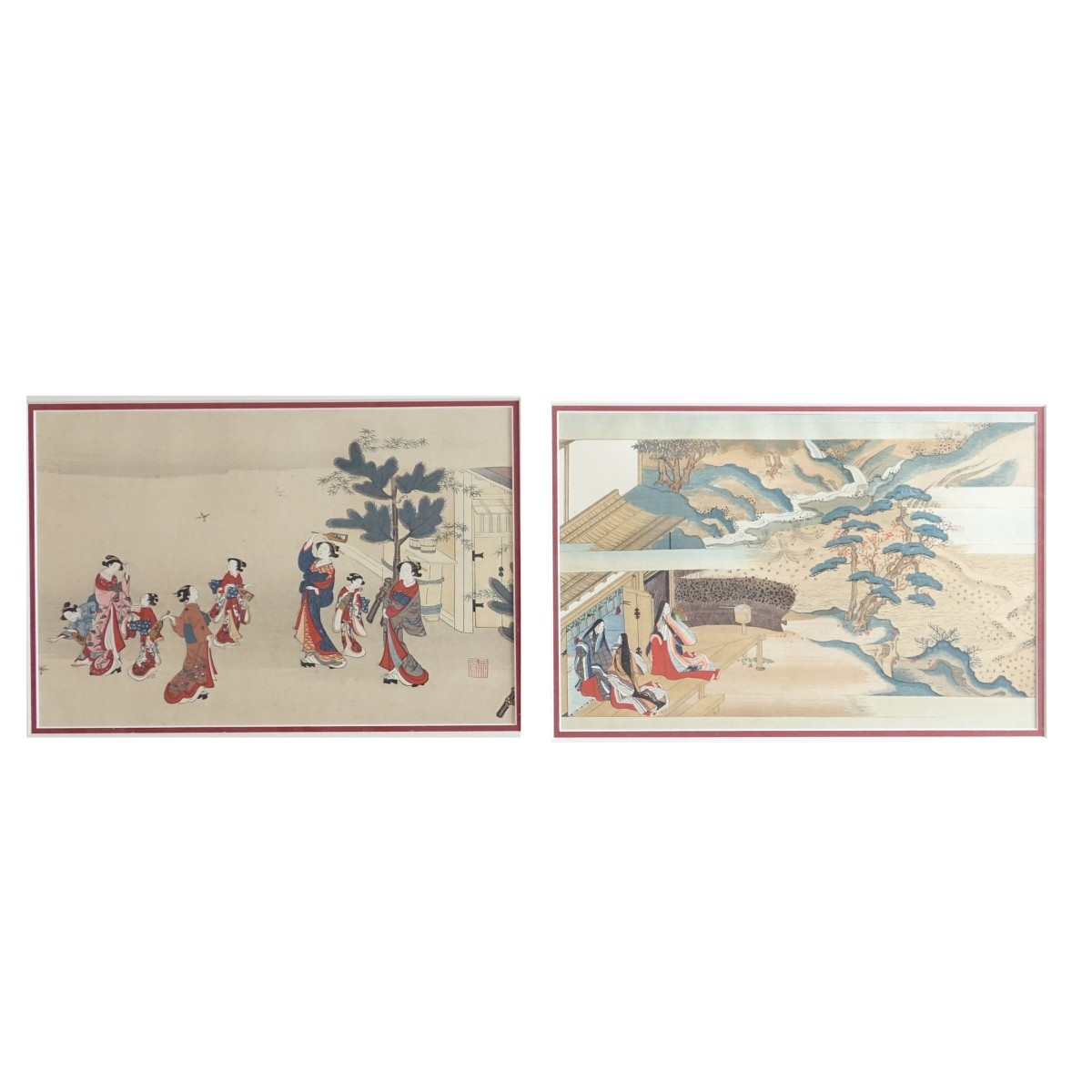 Two (2) Antique Japanese Color Woodblock Prints.