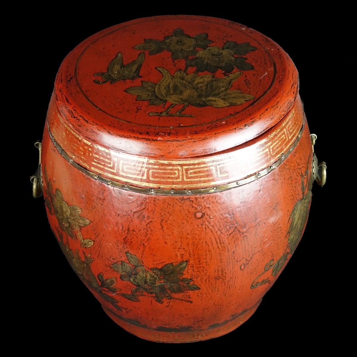 Antique Chinese Covered Rice Container