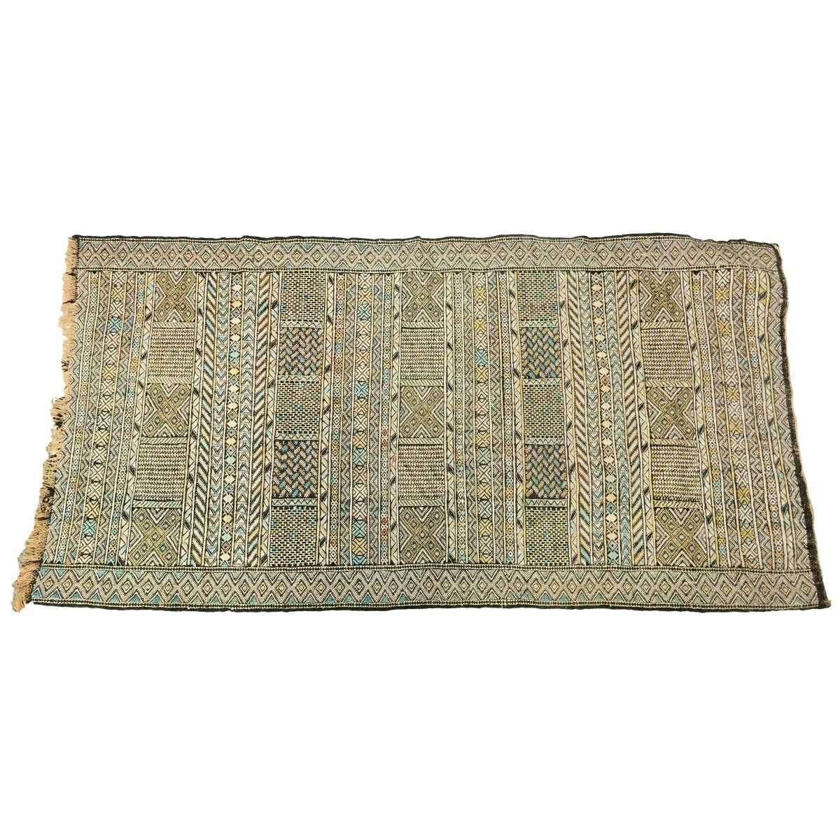 Antique Soumak Persian Tribal Style Wool Rug