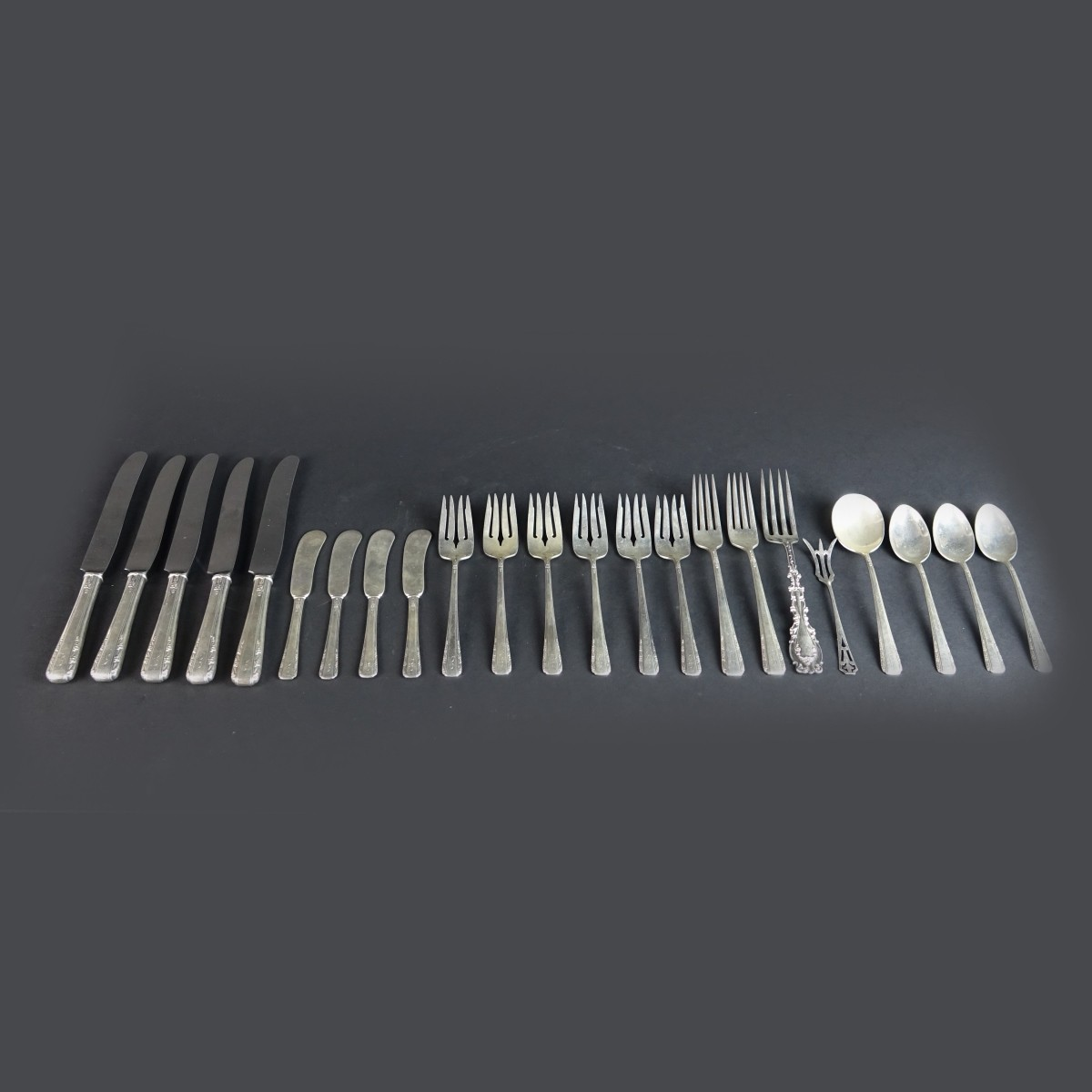 Twenty Three (23) Sterling Silver Tableware
