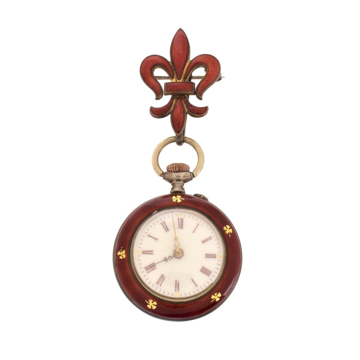 K&L Swiss Enamel Pocket Watch