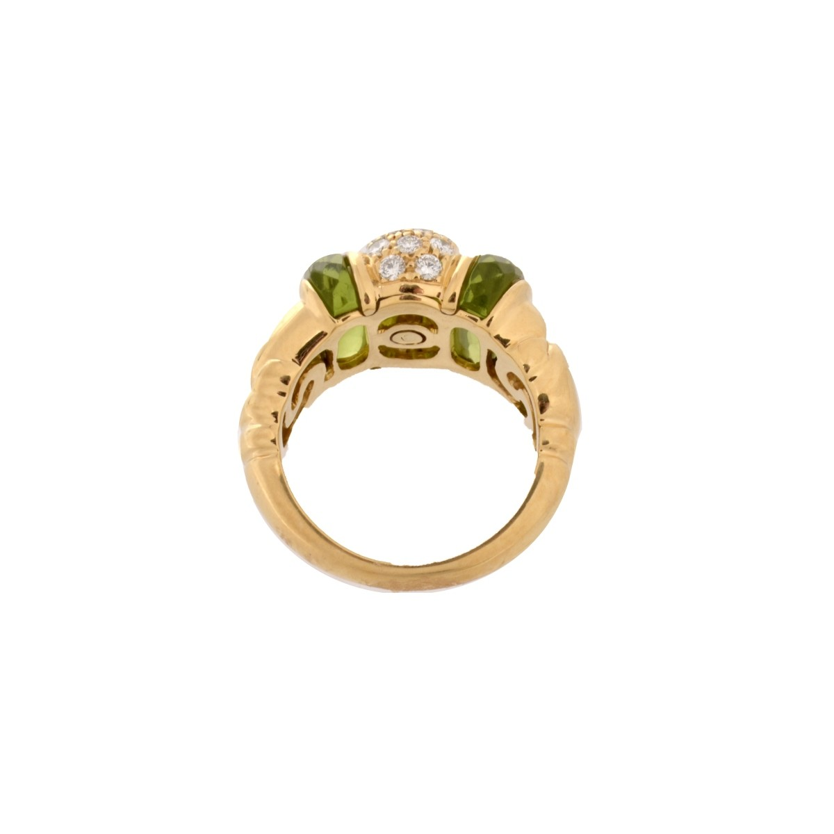 Bulgari Diamond, Peridot and 18K Ring
