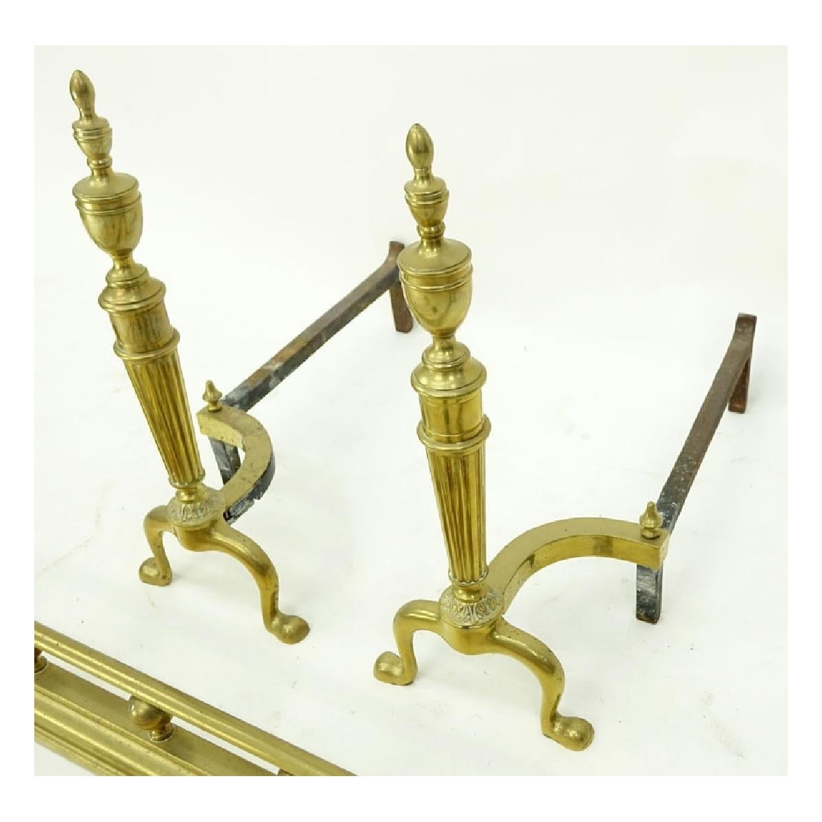 Antique Seven (7) Piece Fireplace Set