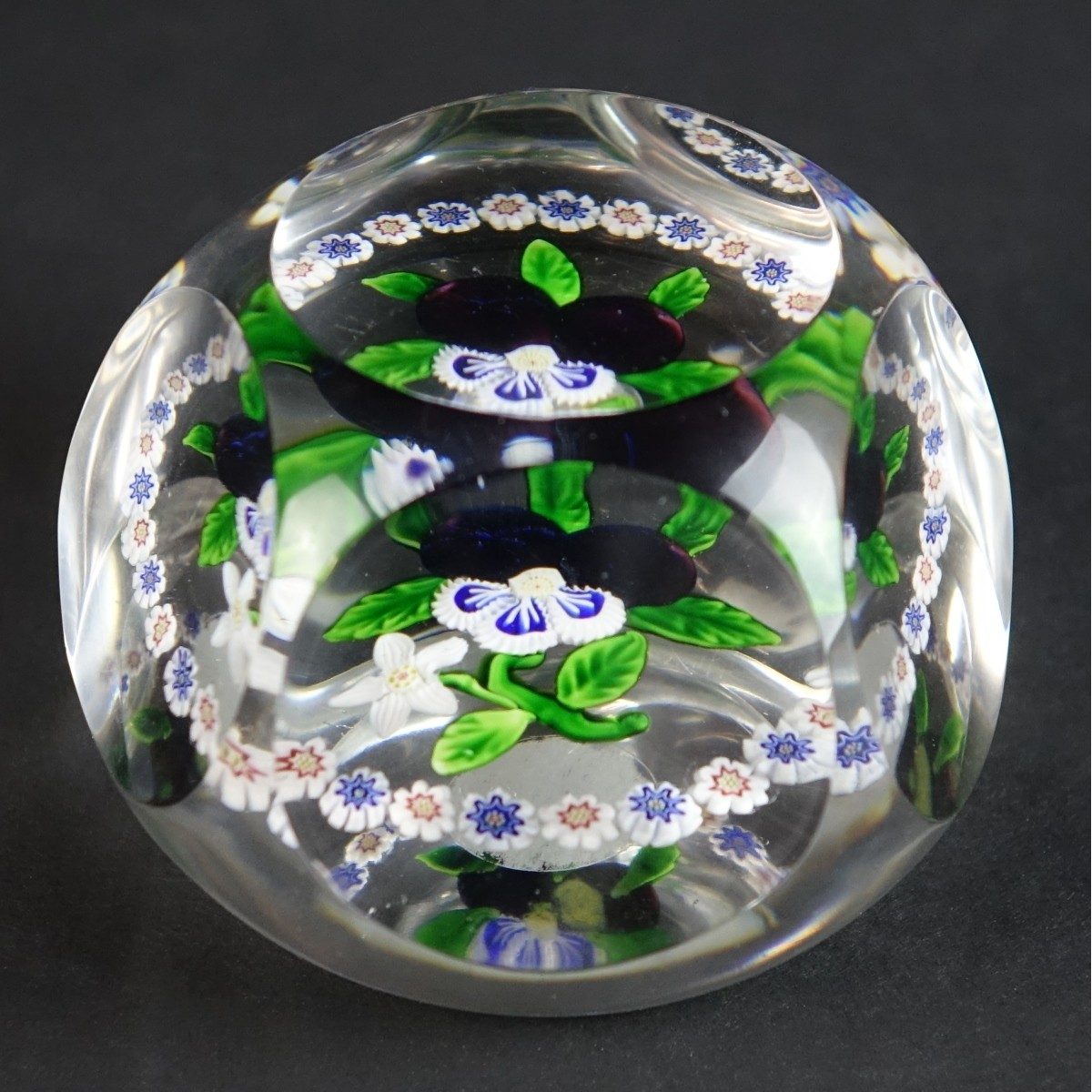 Antique Baccarat Faceted Paperweight