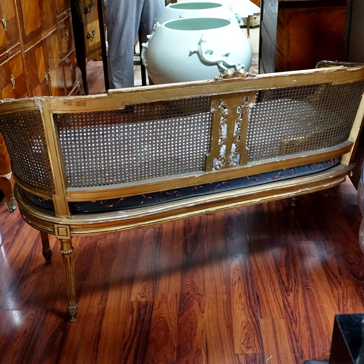 Antique Louis XVI Style Love Seat