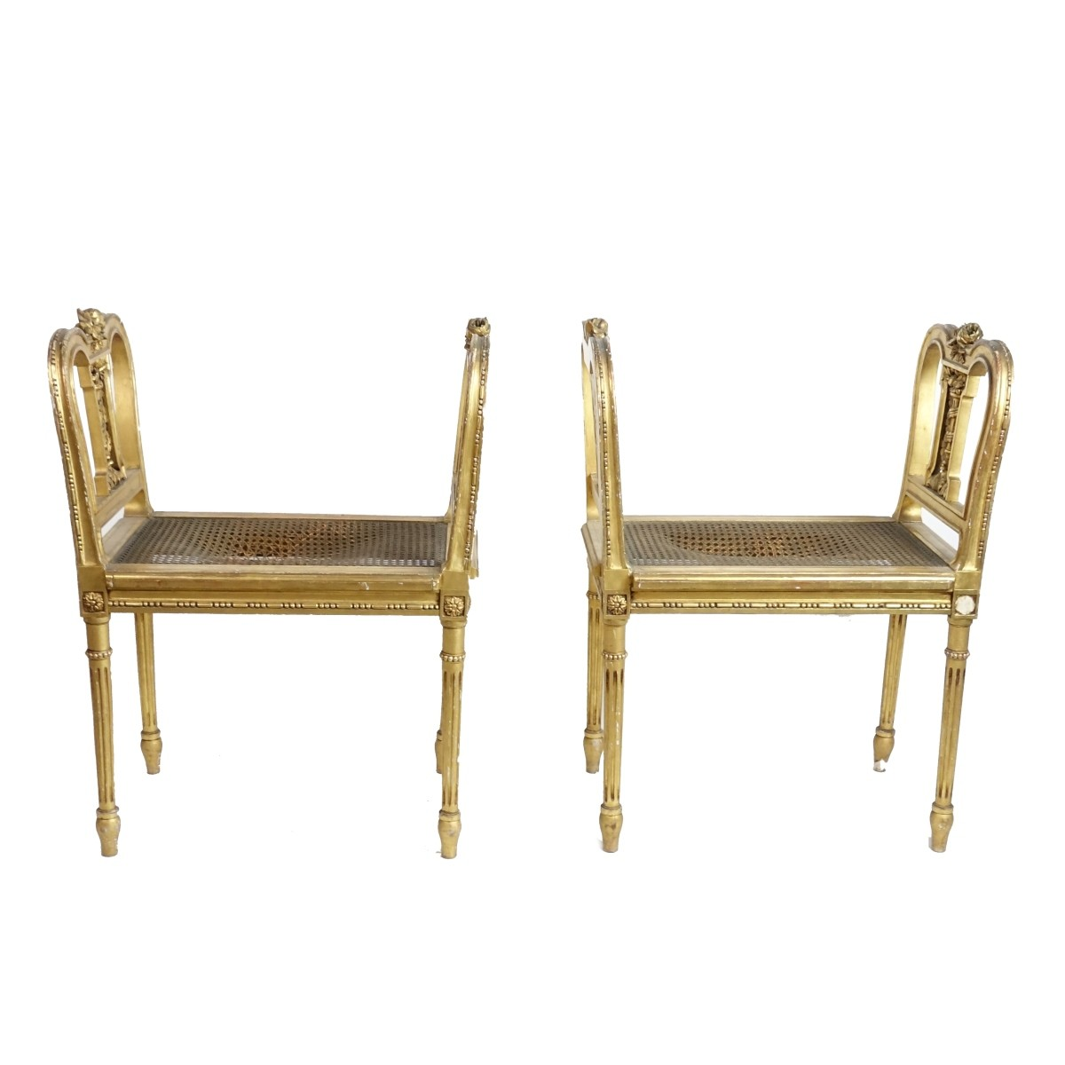 Pair of Louis XVI Style Benches