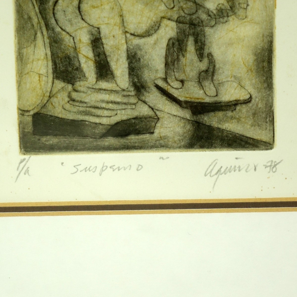 Edmundo Aquino (born 1939) Artist Proof Etching