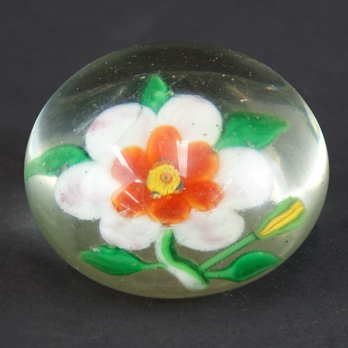 Antique Baccarat Clematis Art Glass Paperweight